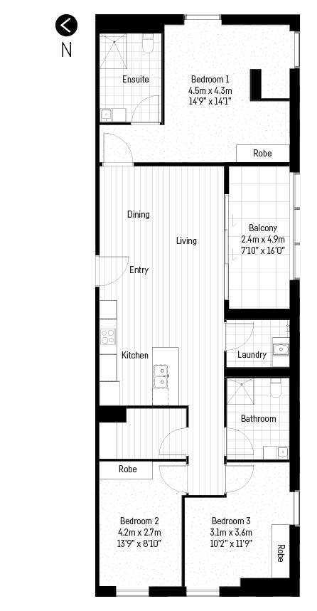 Gresham 3 bedroom floor plan