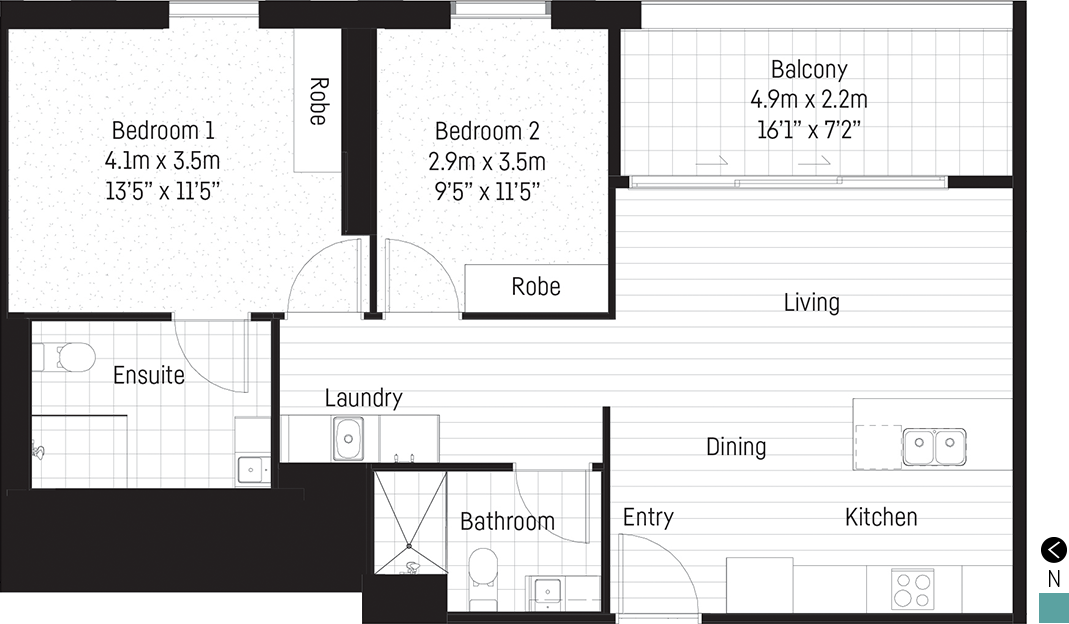 Bentham apartment floor plan