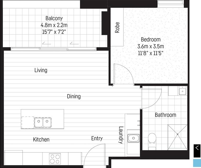 Bowen apartment floor plan