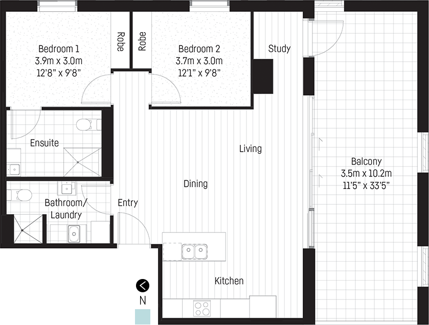 Eliza apartment floor plan