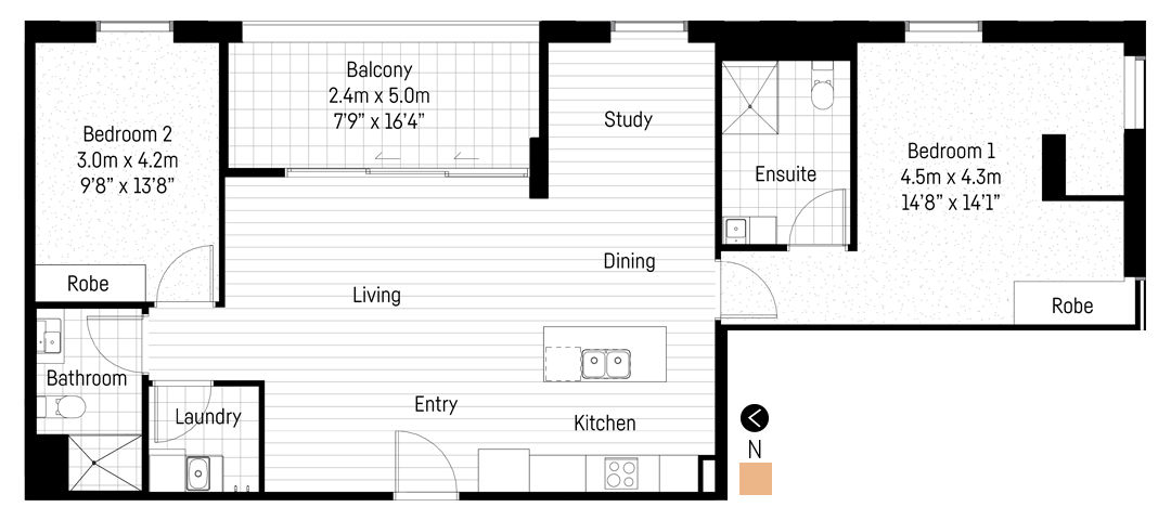 Morialta apartment floor plan