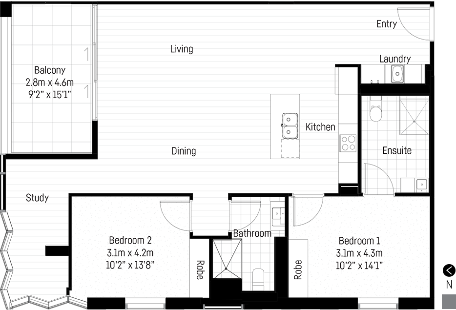Penaluna apartment floor plan