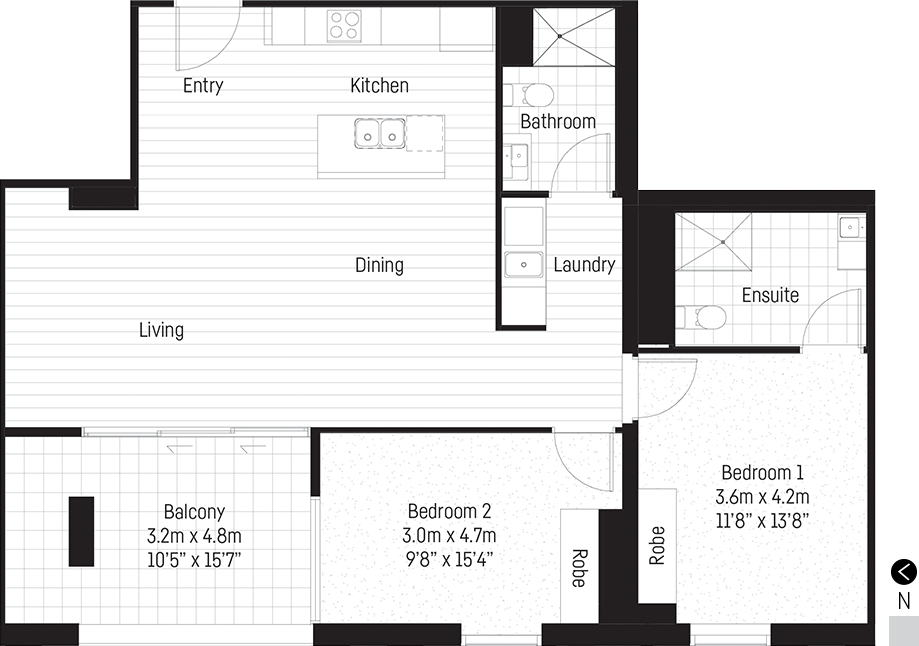 Tatham apartment floor plan