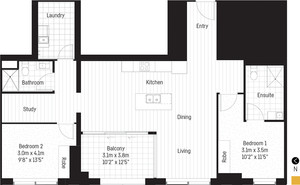 Young apartment floor plan