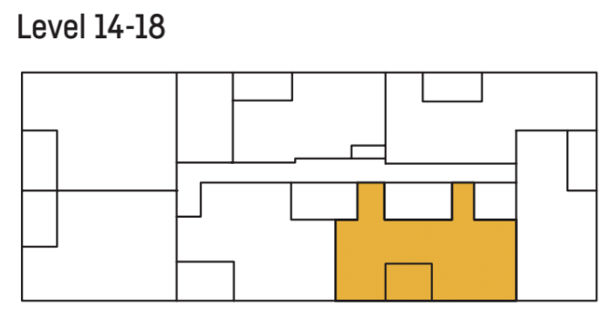 U City level 14 and 18 floor plan